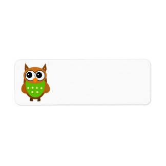 Animated Owl Label