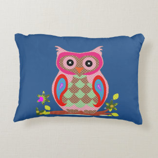 Animated Owl Accent Pillow