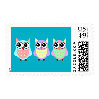 Animated Owls Background Stamp