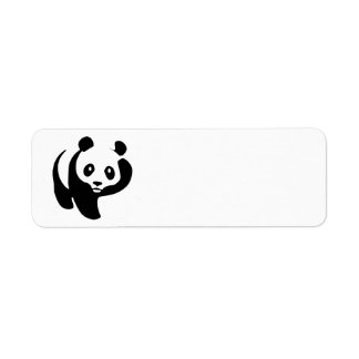 Animated Panda Bear Label