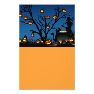 Animated Pumpkins and witch Flyer
