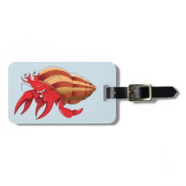 Animated Red Hermit Crab Bag Tag