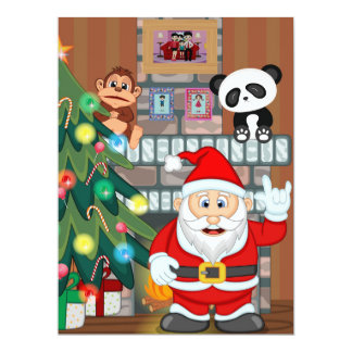 Animated Santa Claus Card
