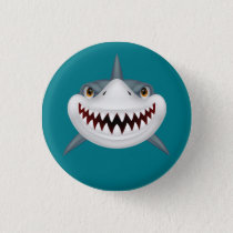 Animated Scary Shark Face Button