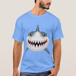 Animated Scary Shark Face T-Shirt
