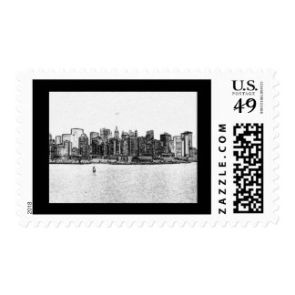 Animated Skyline Postage