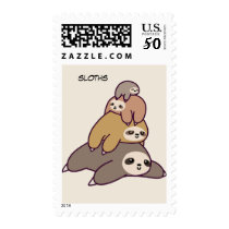 Animated Sloths Postage