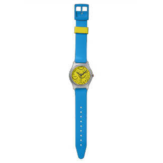 Animated smiley face background wrist watches