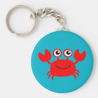 Animated smiling crab keychain