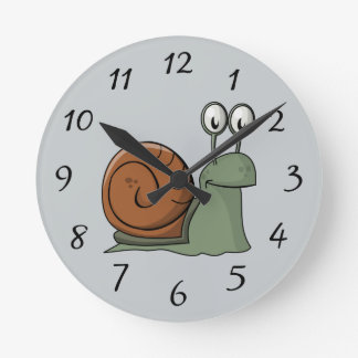 Animated Snail Round Clock