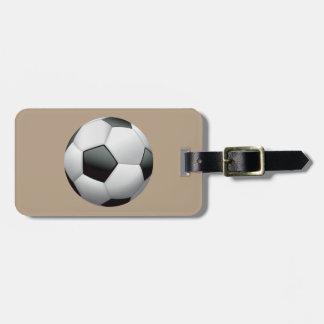 Animated Soccer Ball Bag Tag