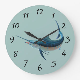 Animated Swordfish Large Clock