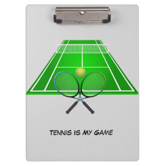 Animated Tennis Court and rackets Clipboard