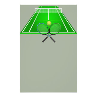 Animated Tennis Court and rackets Flyer