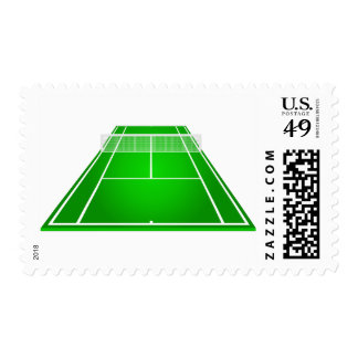 Animated Tennis Court and rackets Postage