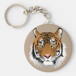 Animated Tiger Face Keychain