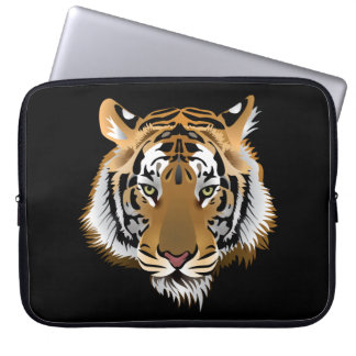 Animated Tiger face Laptop Computer Sleeve