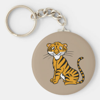 Animated Tiger Keychain
