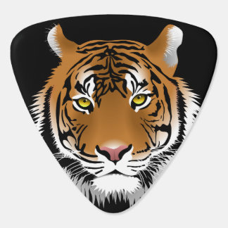 Animated Tigers Face Guitar Pick