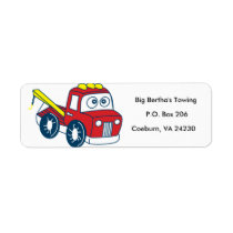 Animated Tow Truck Label