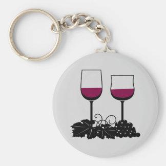 Animated Wine Glasses Keychain
