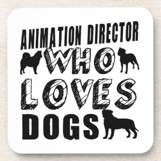 animation director Who Loves Dogs Beverage Coaster