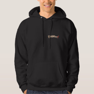 Animation is concentration on back hoodie