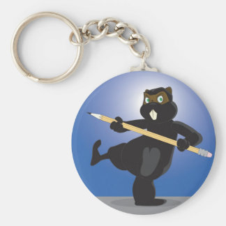 Animation Ninja Beaver Keychain