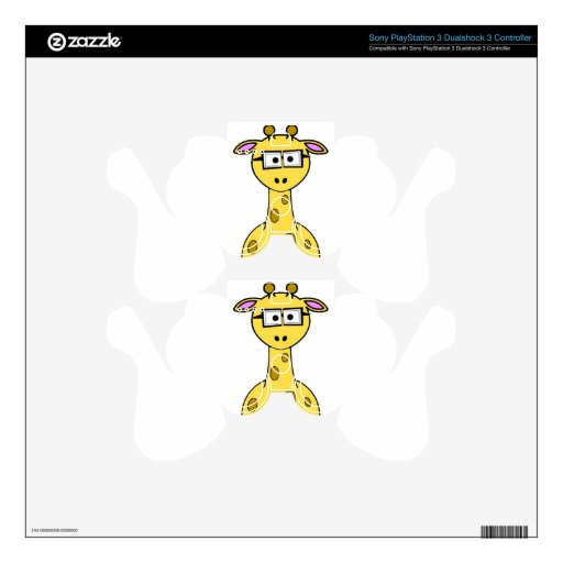 animation of giraffe with glasses skins for PS3 controllers