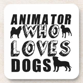 animator Who Loves Dogs Beverage Coaster
