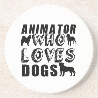 animator Who Loves Dogs Sandstone Coaster