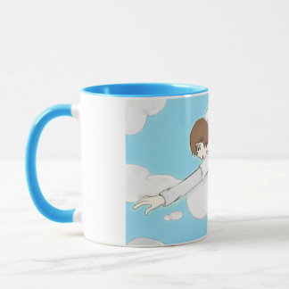 Anime Angel Boy Reaching Out From Clouds Mug