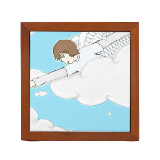 Anime Angel Boy Reaching Out From Clouds Pencil Holder