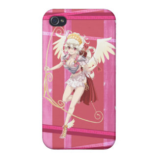 Anime Angelic Cupid - Pink, On Hearts iPhone 4/4S Case