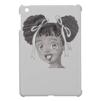 Anime Art of African American Girl iPad Mini Case