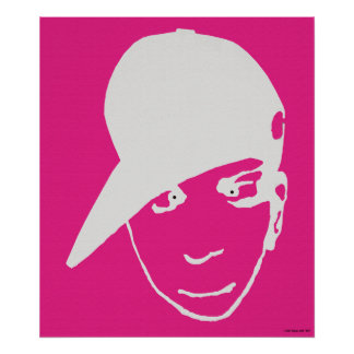 Anime B-Boy Poster, Pink, Large, 35 by 40 inches Poster