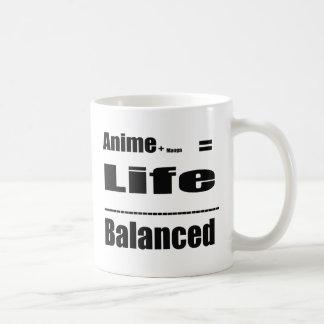 Anime balanced in life coffee mug