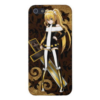 Anime Beauty of The Cross - Gold Brocades on Black Cover For iPhone SE/5/5s