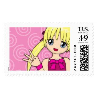 Anime Birthday Postage Stamp
