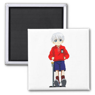 Anime Boy 2 Inch Square Magnet