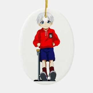 Anime Boy Christmas Ornament