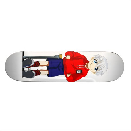 Anime Boy Skate Board Deck