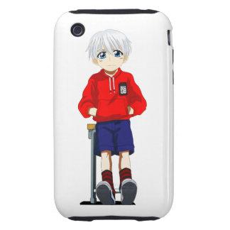 Anime Boy Tough iPhone 3 Cover