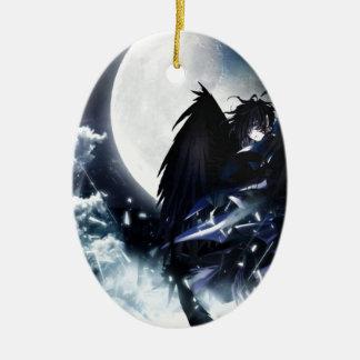 Anime Boy Wings Ceramic Ornament