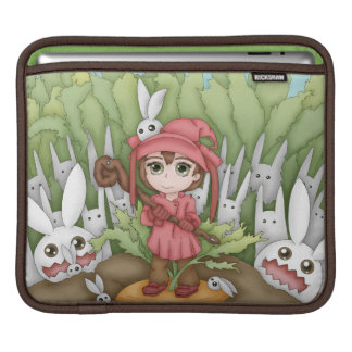 Anime Bunnies In The Garden Artwork Sleeves For iPads