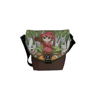 Anime Bunnies In The Garden Artwork Courier Bags