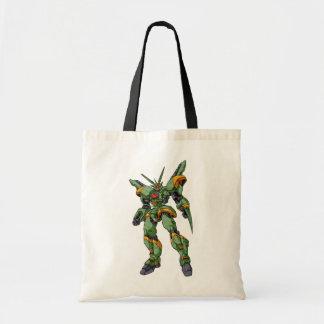 Anime Camo Robot Tote Bags