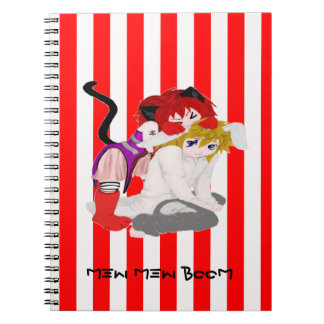 Anime Cat and Rabbit Notebook