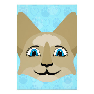 Anime Cat Face With Blue Eyes Announcement