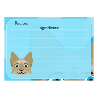 Anime Cat Face With Blue Eyes Business Card Templates